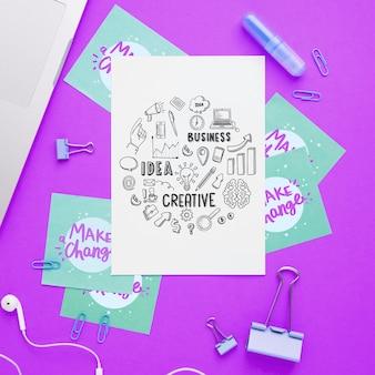 Motivational message on paper sheet