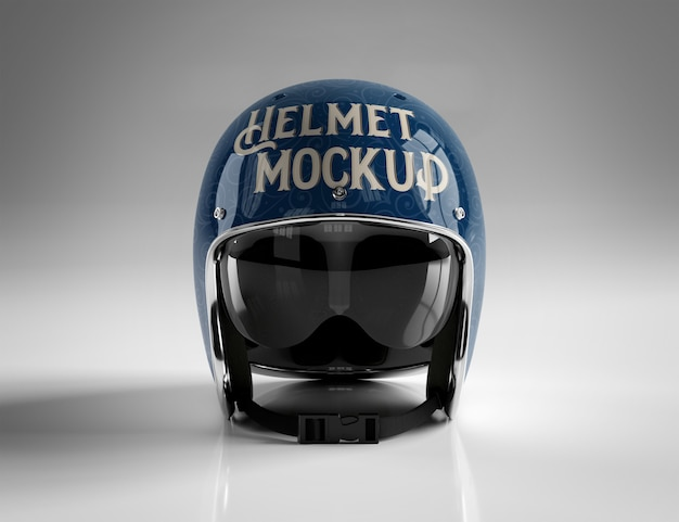 Motorbike helmet isolated on white mockup
