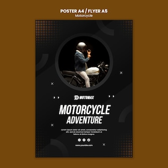 Motorcycle adventure poster design