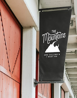 The mountains are calling and i must go poster mockup