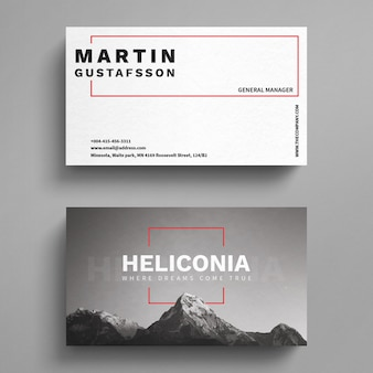Mountains business card template