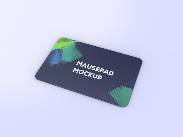 Mouse pad mockup design rendering