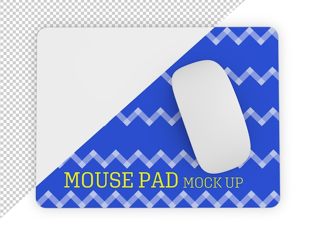 Mouse pad mockup isolated