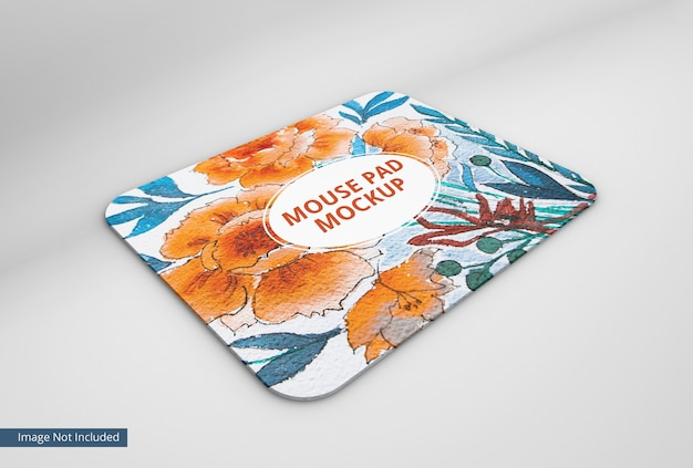 Mouse pad mockup on transparent background