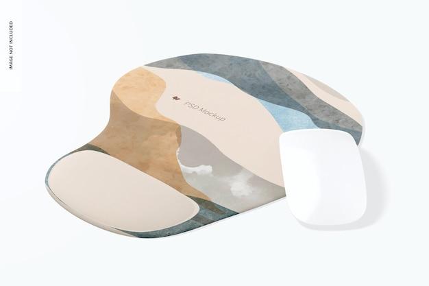 Коврик для мыши с гелевым макетом, вид спереди