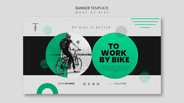 Move by bike banner template
