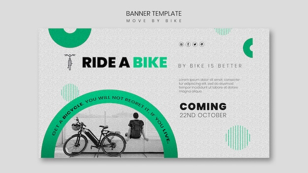 Move by bike banner theme