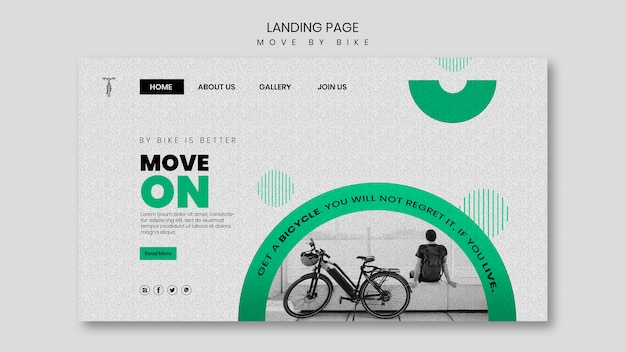 Move by bike landing page design