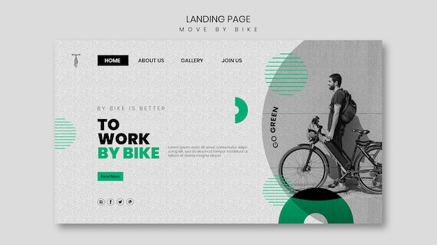 Move by bike landing page theme