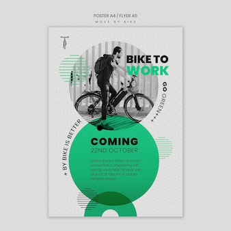 Move by bike poster style