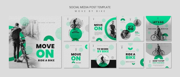 Sposta in bici i post sui social media
