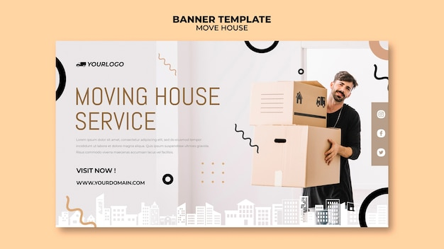 Move house banner template