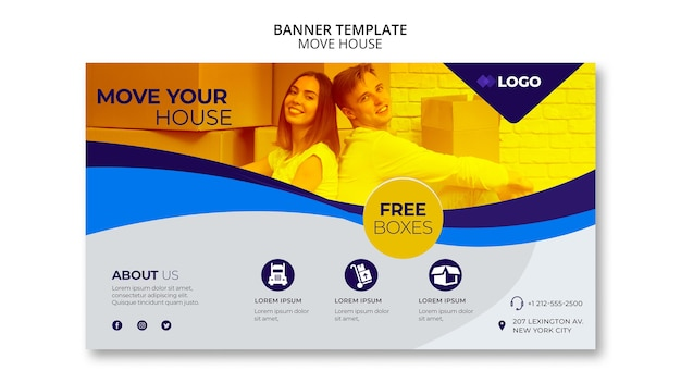 Move house business banner template
