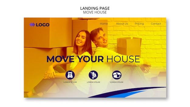 引っ越しビジネスのランディングページテンプレート