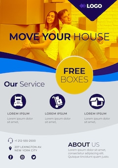 Move house business poster template
