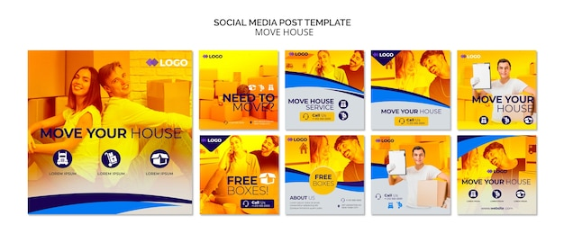Move house business social media post template