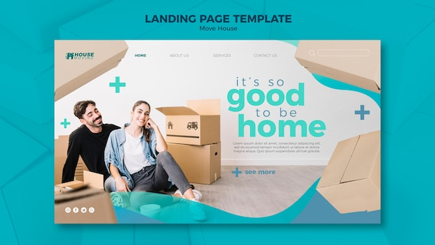 Move house concept landing page template