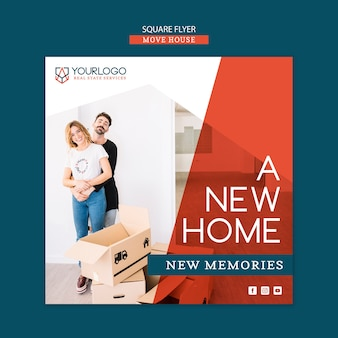 Move house flyer template concepe