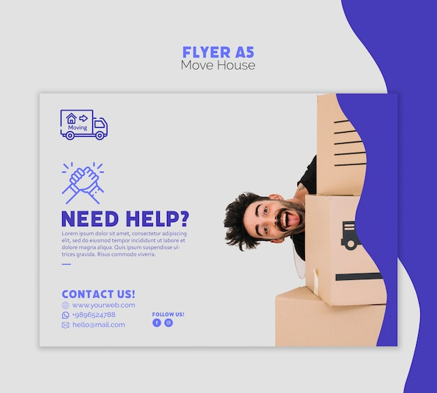 Move house flyer template