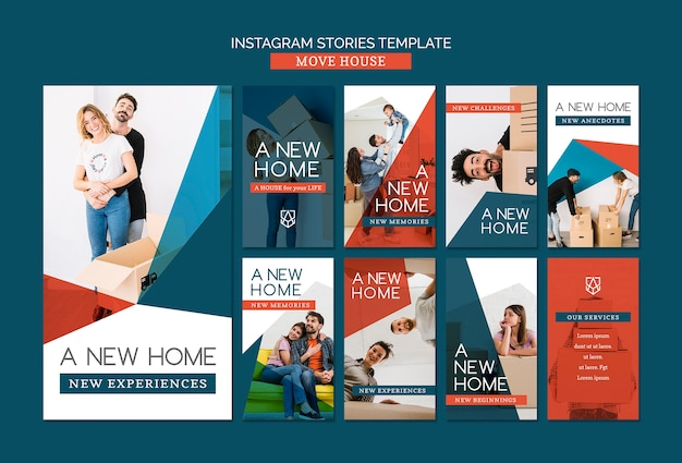 Move house instagram stories template
