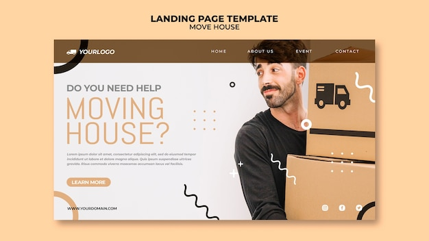 Move house landing page design