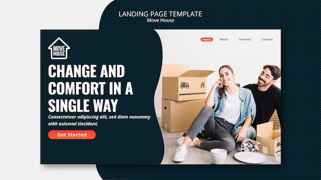 Move house landing page template