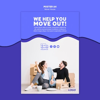 Move house poster template theme