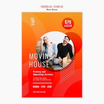 Move house poster template