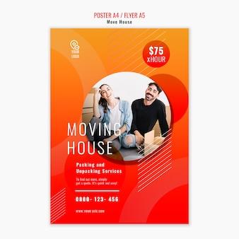 Sposta il modello di poster della casa
