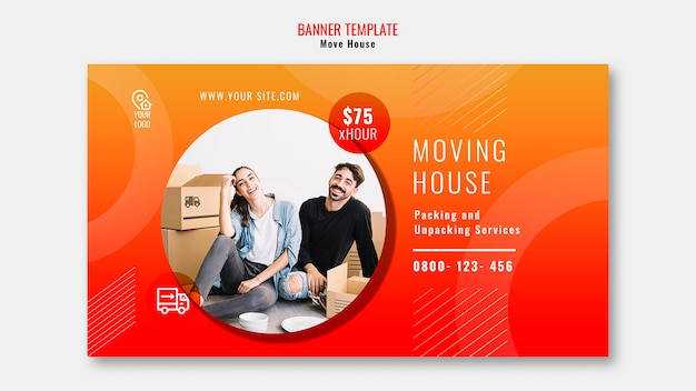 Move house template banner