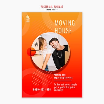 Sposta il volantino del modello di casa