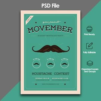 Movemberイベントチラシテンプレート