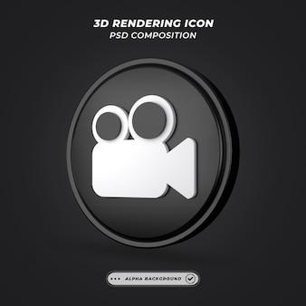 Значок кинокамеры в 3d-рендеринге