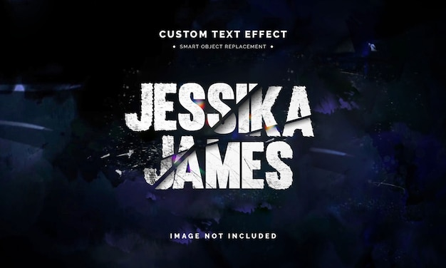 Movie slashed text style effect