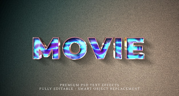 Movie text style effect psd , premium psd text effects