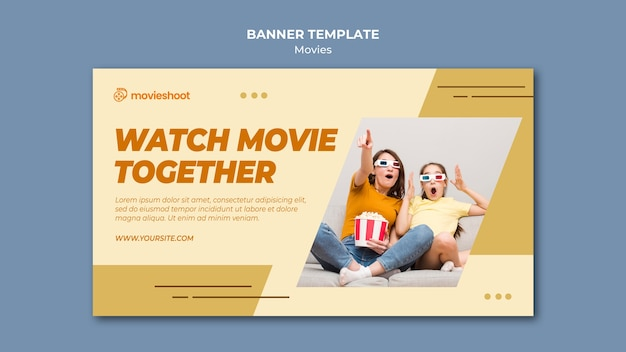 Movie time banner template