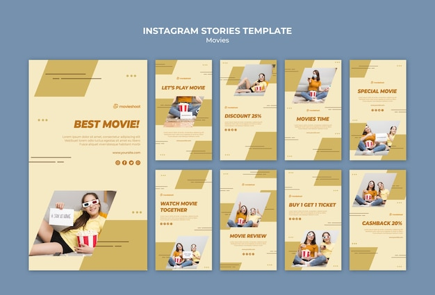 Movie time instagram stories template