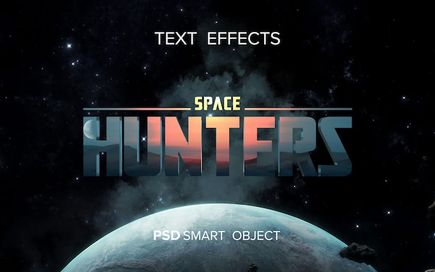 Movie title text effect