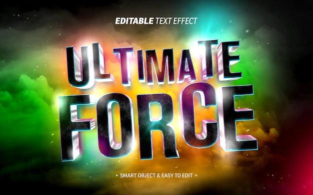 Movie tittle text effect