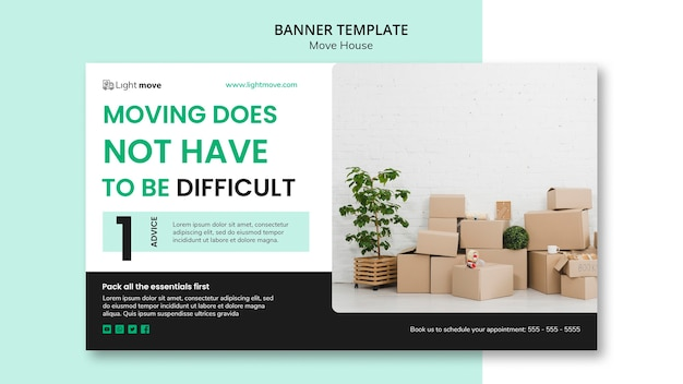 Moving company banner template