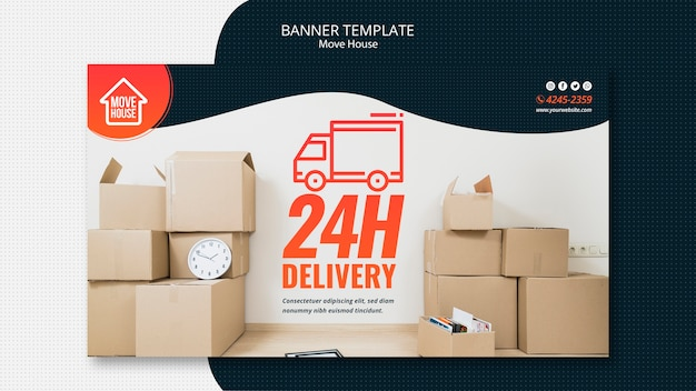 Moving house banner template