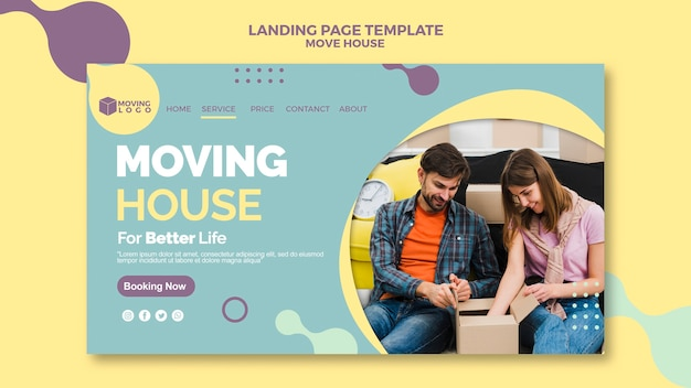 Moving house landing page template