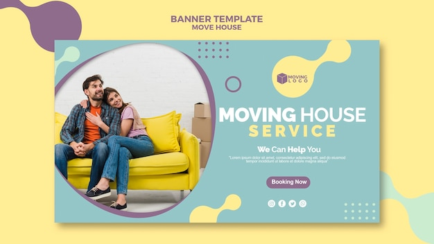 Moving house service banner
