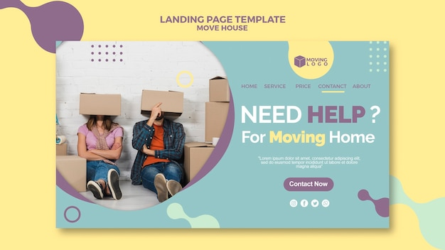 Moving house service landing page