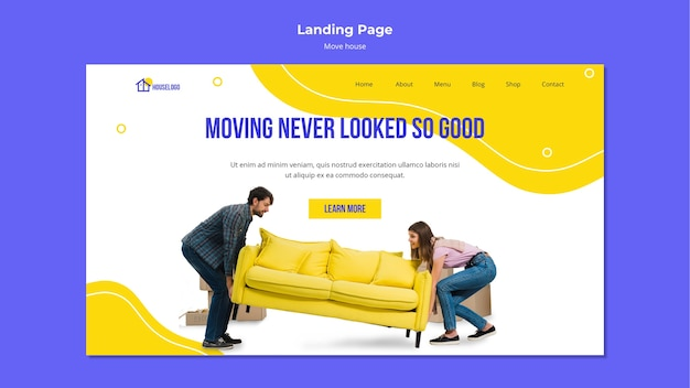 Moving never looked so good landing page