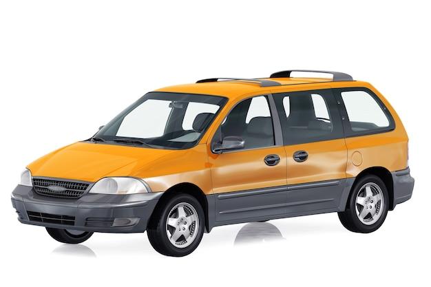 Mockup di mpv multi purpose vehicle 2000