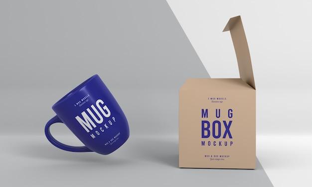 Mug box mock-up arrangement