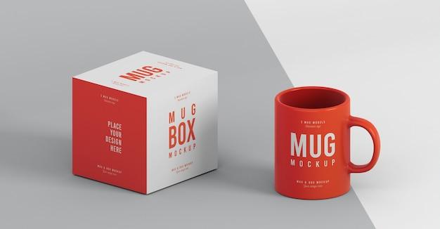 Disposizione del modello della scatola della tazza