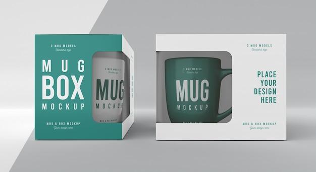 Mug box mock-up assortment