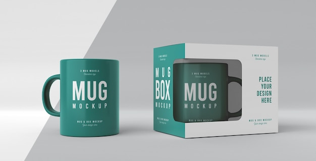 Mug box mock-up assortment Free Psd